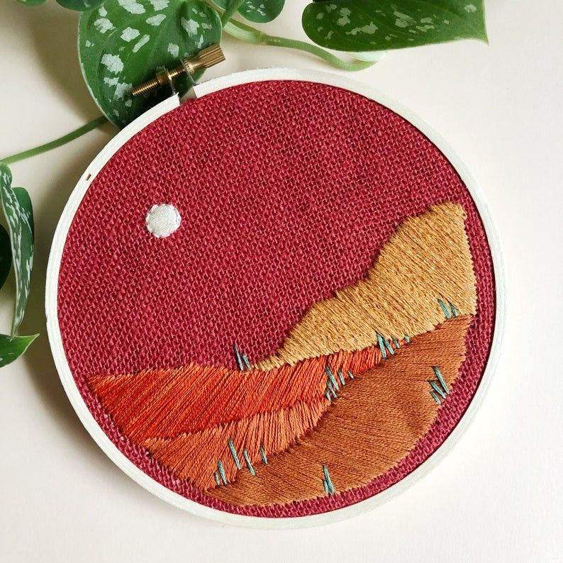 Cozy up to more craft projects this season: like, say, this desert-themed embroidery DIY perfect for beginners.