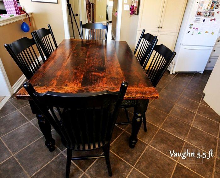 Reclaimed Wood Harvest Table With Epoxy/polyurethane Finish Ontario  Barnwood Cambridge,ON By HD