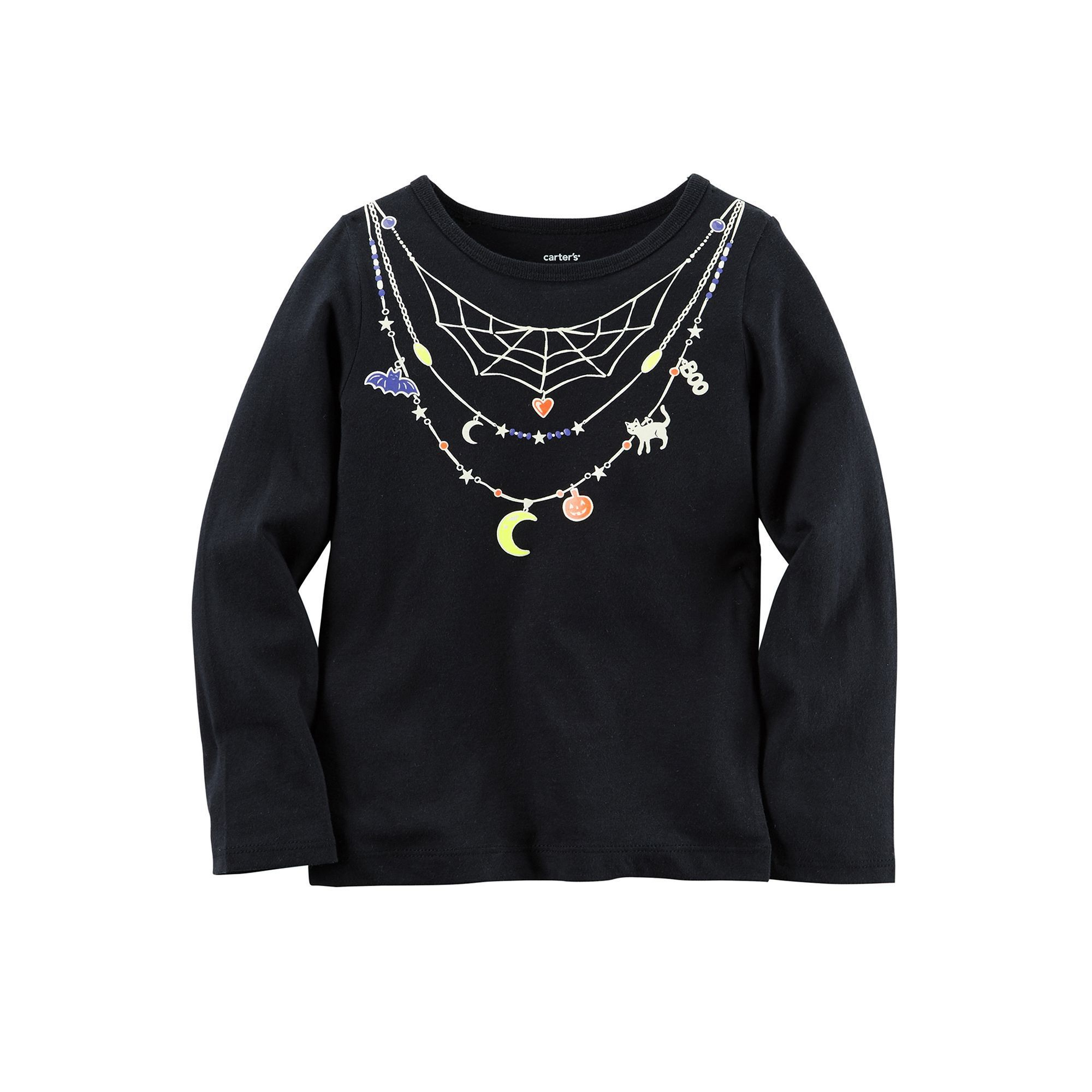 Baby Girl Carter s Necklace Halloween Tee Size 24 Months Black