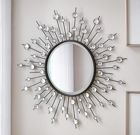 Home Decorators Collection Black 32 In. X 32 In. Diamond Mirror 0224610450    The Home Depot