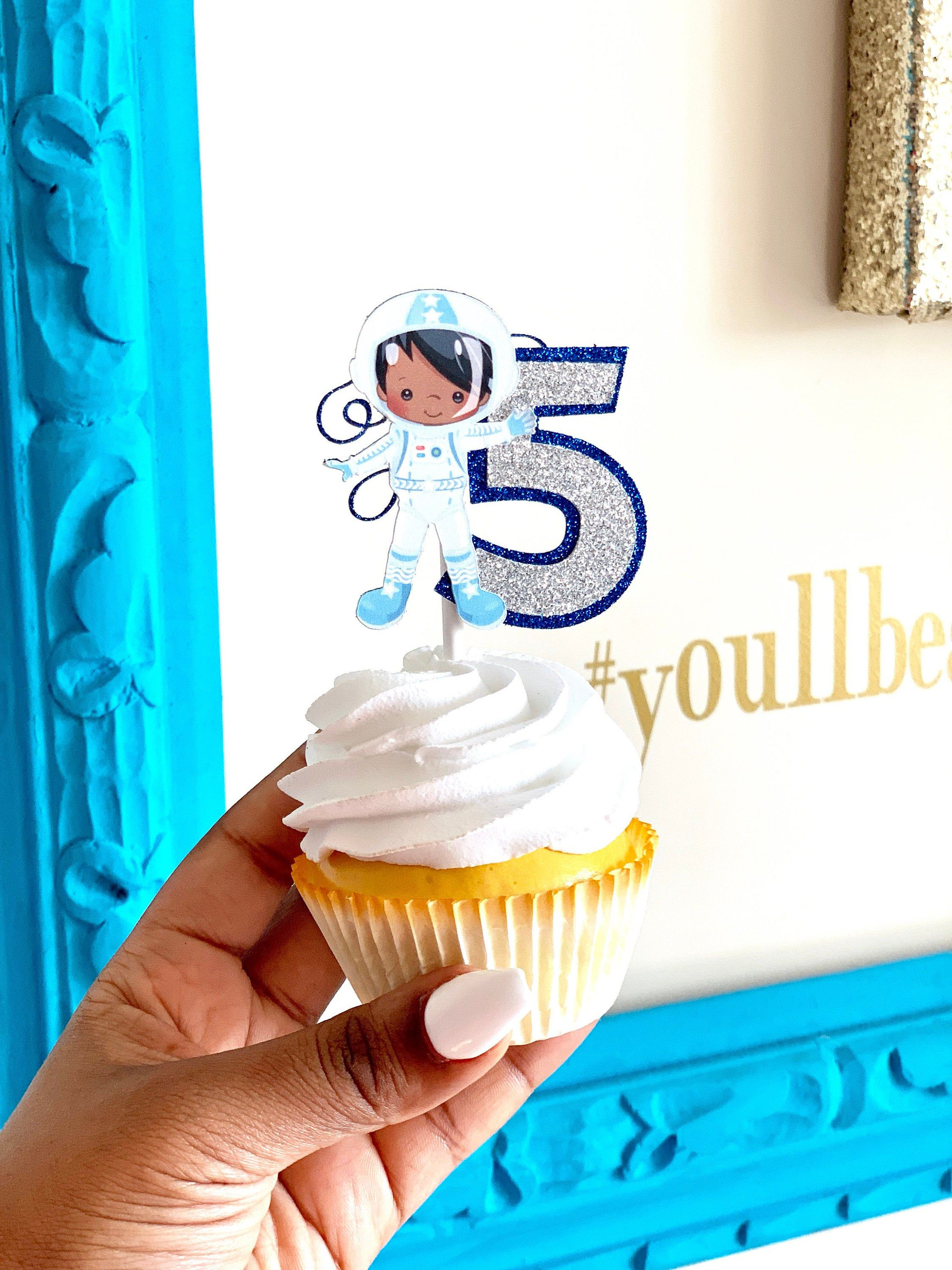 Outter space cupcake topper, outter space party, outter