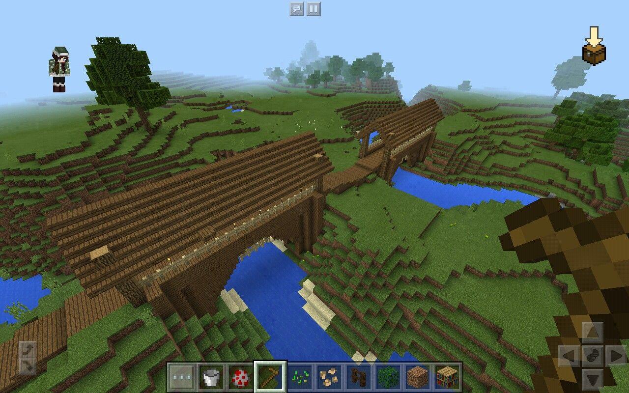 double covered bridges minecraft ideasminecraft pe - Minecraft Pe Garden Ideas