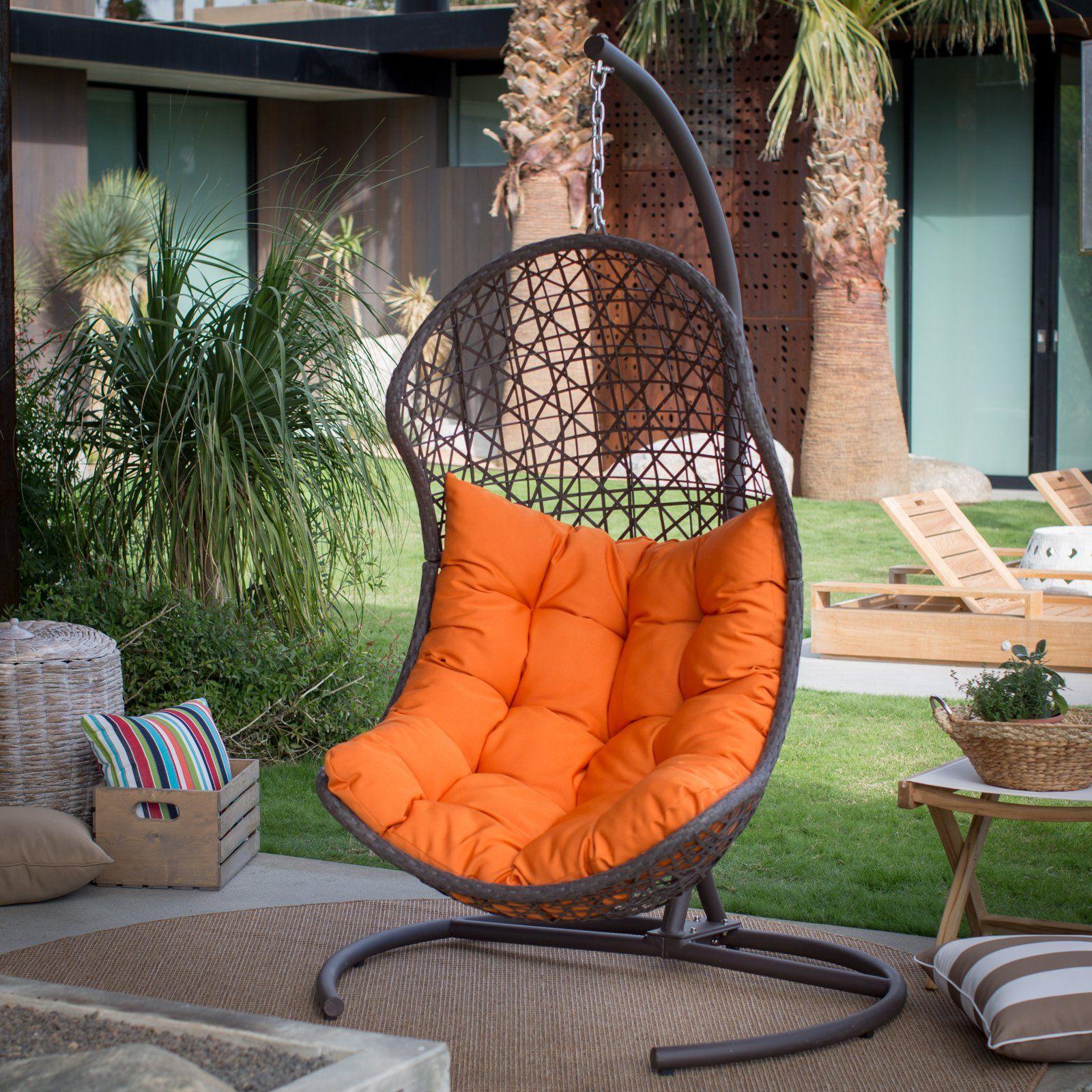 outdoor belham living cocos resin wicker hanging egg chair with rh pinterest com