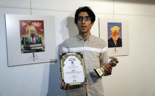 Iranian cartoonist Hadi Asadi has won the best art in a cartoon competition organized to mock US President Donald Trump.  Hundreds of cartoonists from around the world were said to have taken part in the exhibition of the Islamic Republic's 2017 International Trumpism cartoon and caricature contest which held in the capital Tehran on July 3 2017 but it was Asadi whose cartoon was chosen from among 1600 entries from 75 countries.  His winning image shows the US president wearing a jacket of…