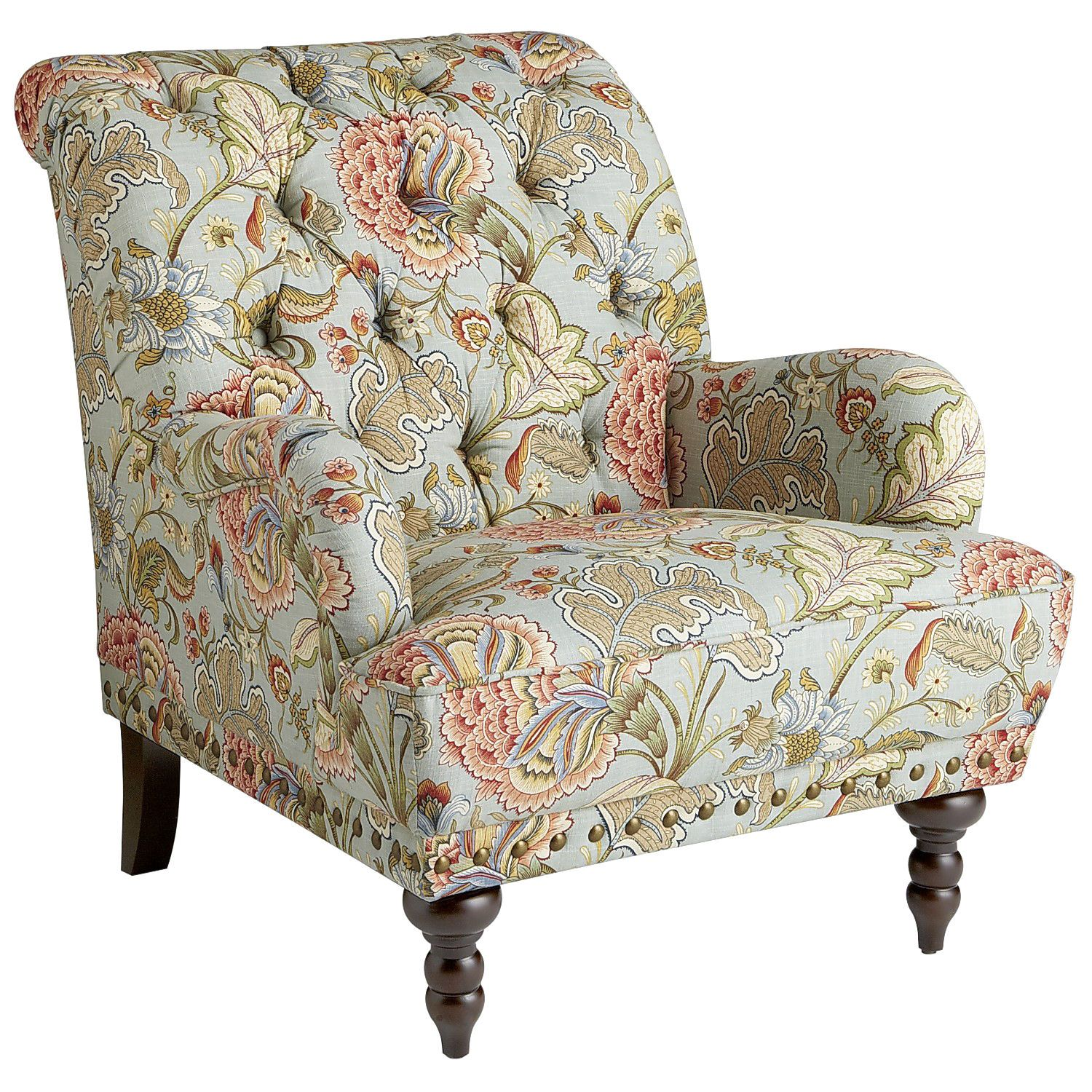 Chas Blue Floral Armchair | Pinterest | Armchairs, Living rooms and Room
