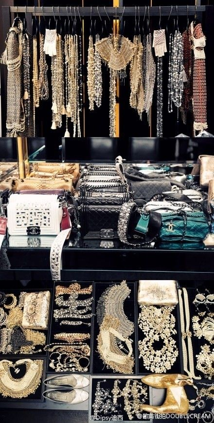 jewelry storage hanging (in case you have this much sparkle in your possession...)