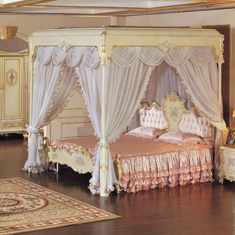 La reproducción antigua muebles francés muebles cama-imagen-Camas ...