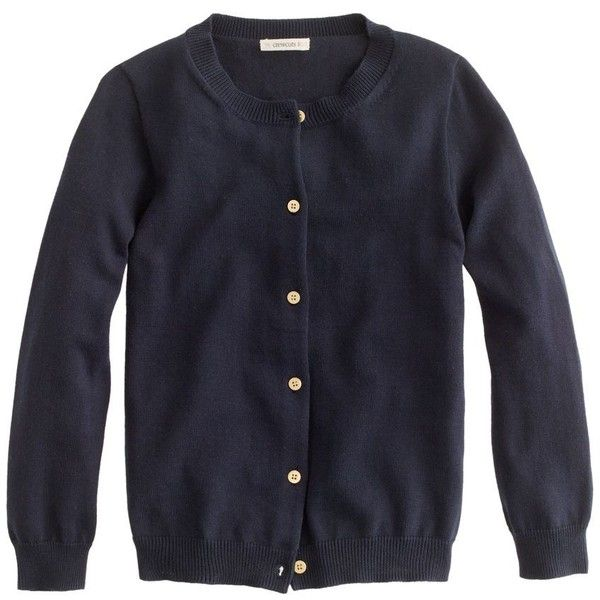 J.Crew Girls' gold-button Caroline cardigan ($33) ❤ liked on ...