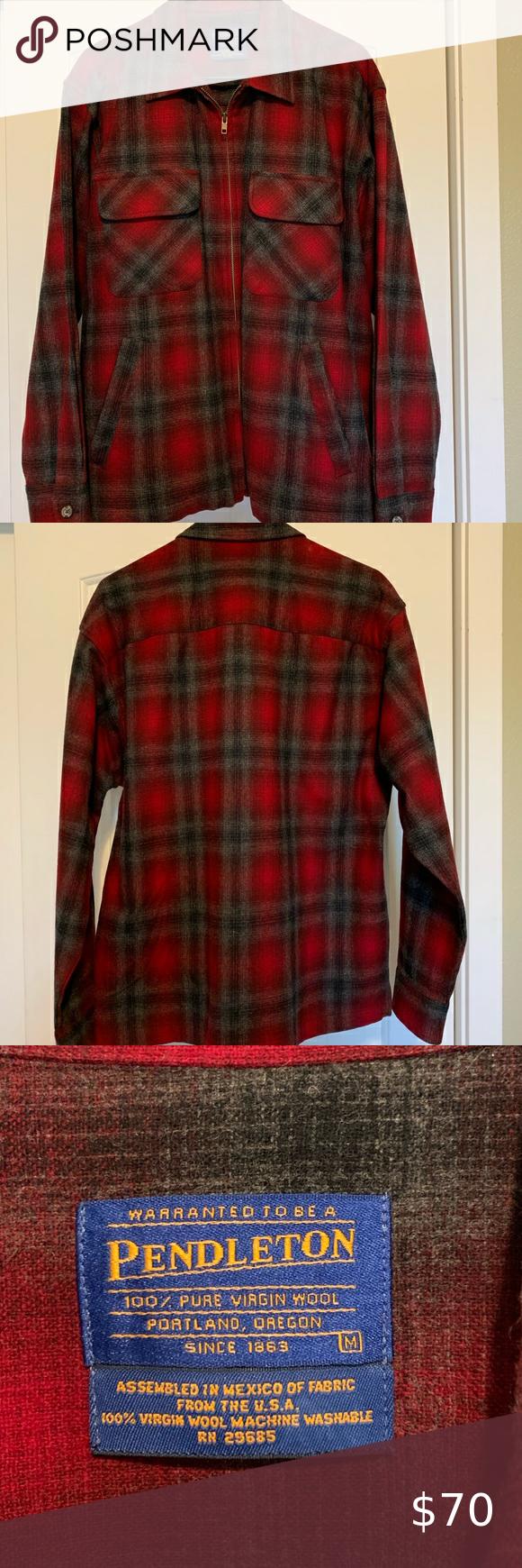 Pendleton Wool Zip Up Jac Shirt Shirt Jac Long Sleeve Tshirt Men Pendleton [ 1740 x 580 Pixel ]