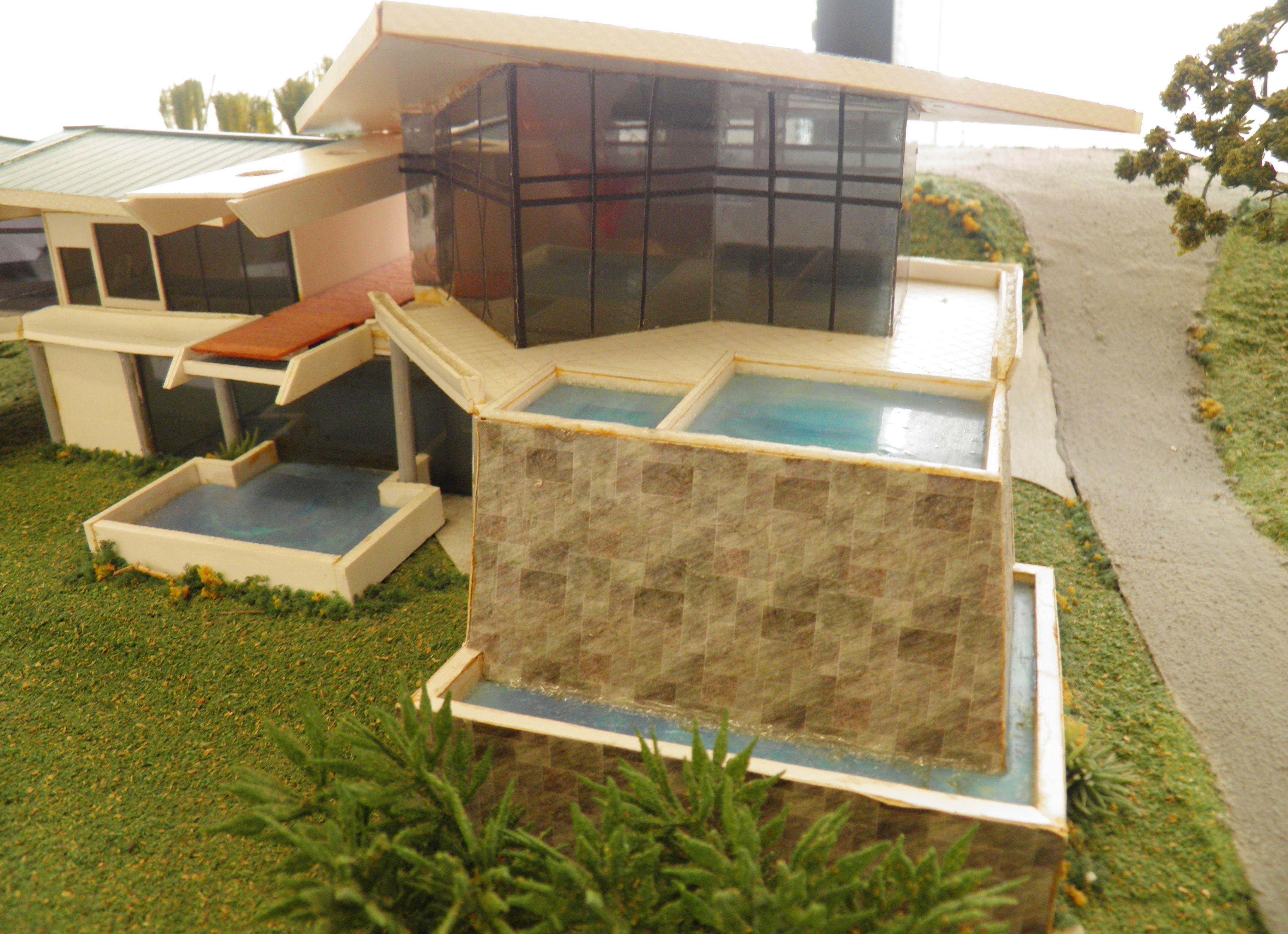 Maqueta casa las cascadas maquetas pinterest for Casa minimalista maqueta