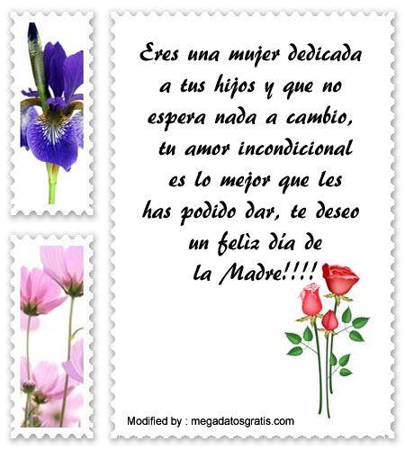 mensajes de texto para el dia de la Madre,palabras para el dia de la Madre,saludos para el dia de la Madre: http://www.megadatosgratis.com/excelentes-mensajes-por-el-dia-de-la-madre/