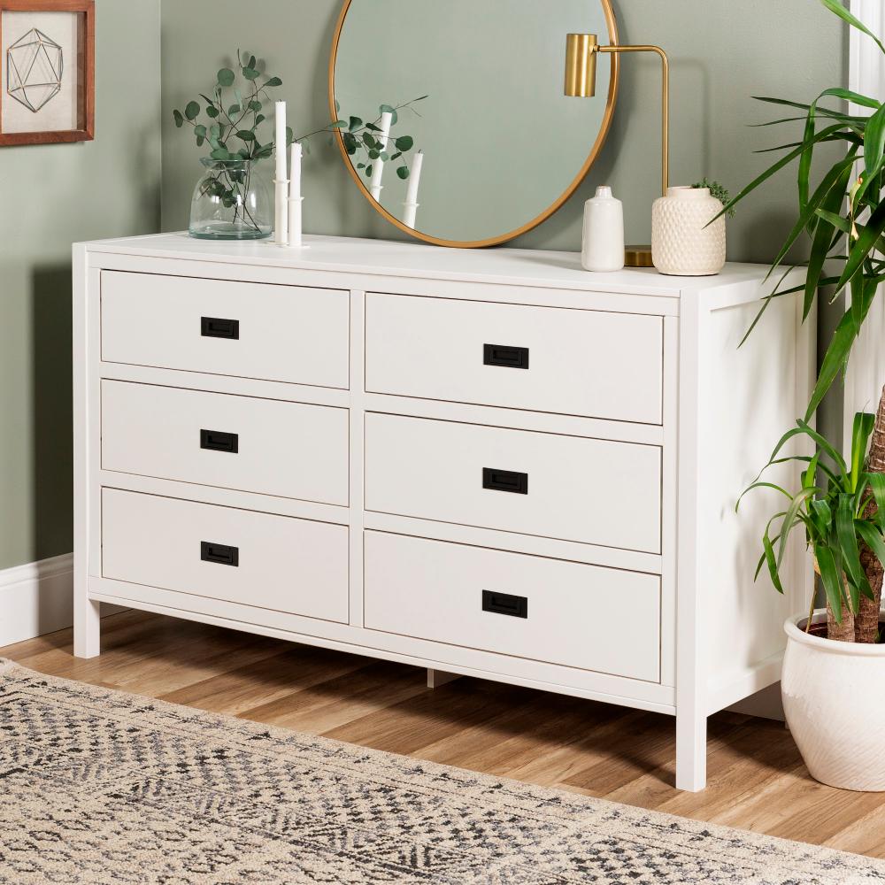 Annabelle Six Drawer Solid Wood White Dresser By Chateau Lyon Walmart Com Dresser Decor Bedroom White Dresser Bedroom White Dresser Decor [ 1000 x 1000 Pixel ]
