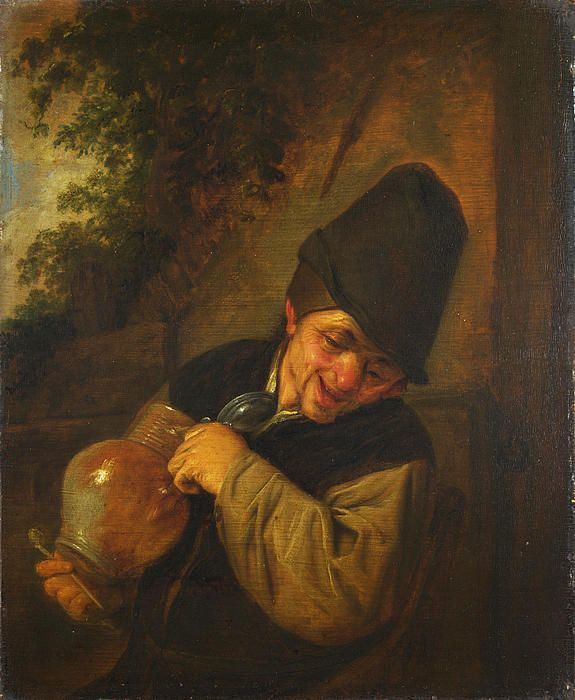 A Peasant Holding A Jug And A Pipe  Adriaen van Ostade