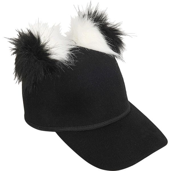 d69fba6714a Charlotte Simone Double faux fur Pom Pom cap ( 125) ❤ liked on Polyvore  featuring