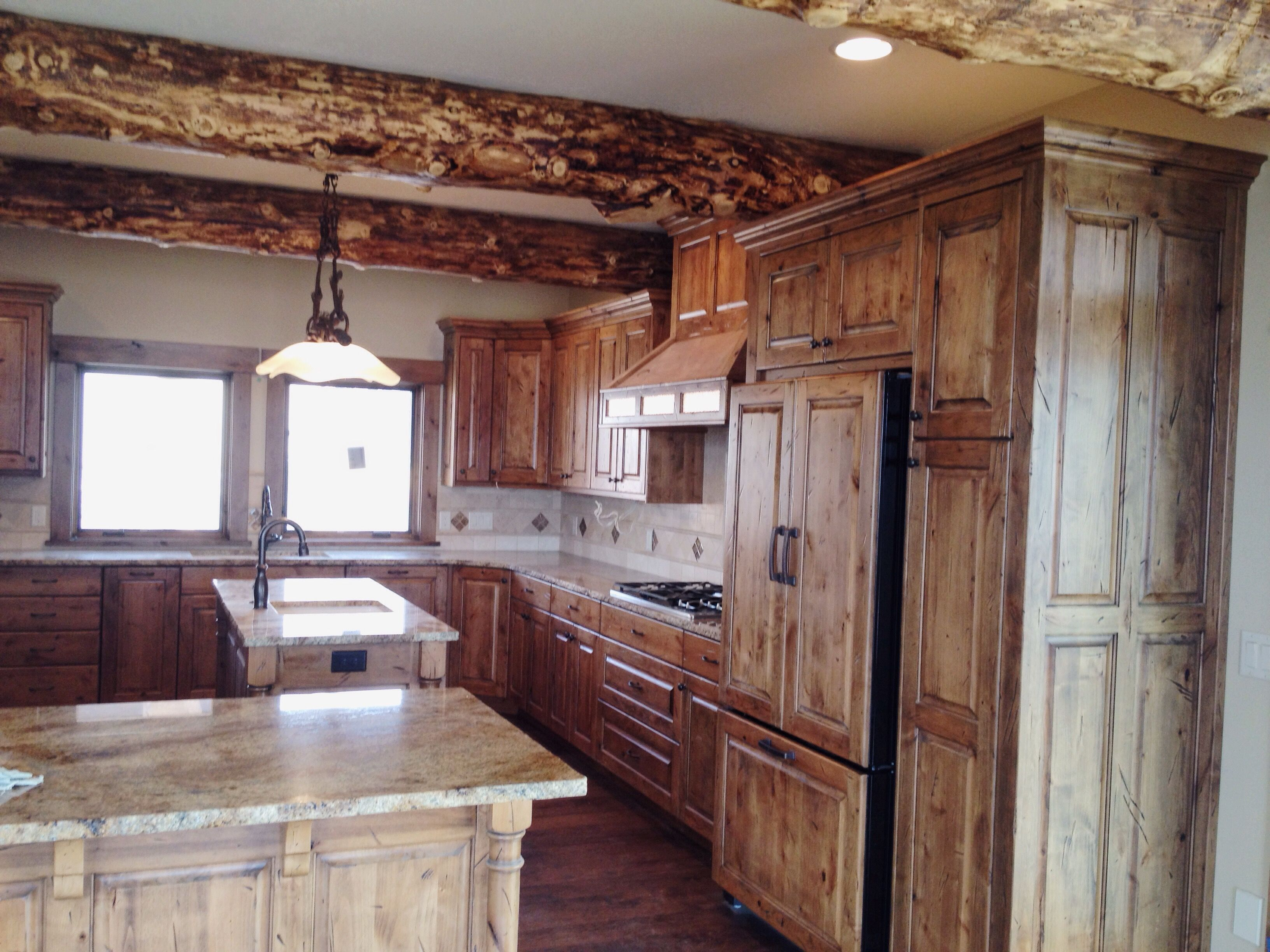 Rustic Kitchen Cabinets Done By Premier Cabinets Of Northern Utah