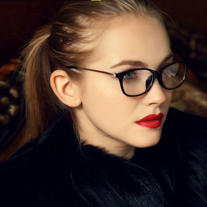 a076229fa49 2016 Brand Design Fashion Diamond Women Eyeglasses Frames Women Computer  Reading Spectacle Optical Frame Eye Glasses Eyeglasses More