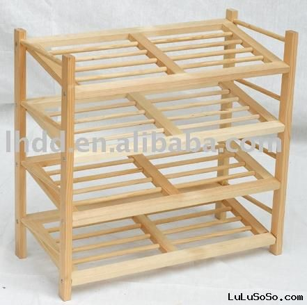 spacious wood shoe rack plans