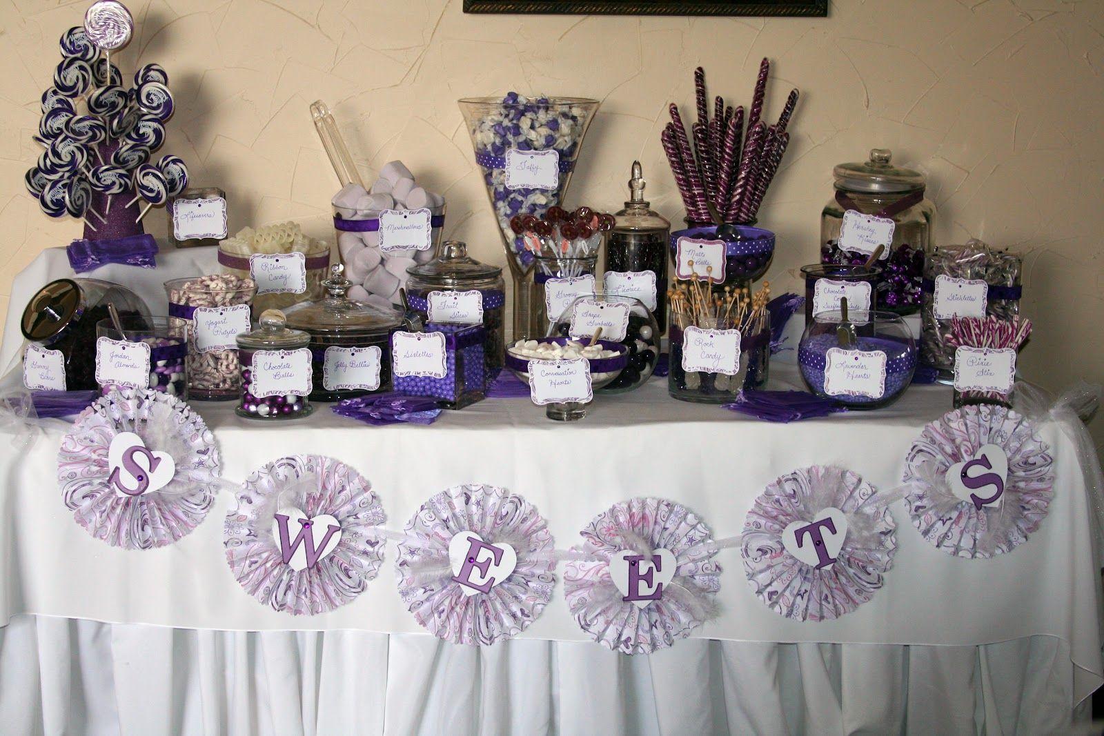 Wedding Reception Purple Desert Bar