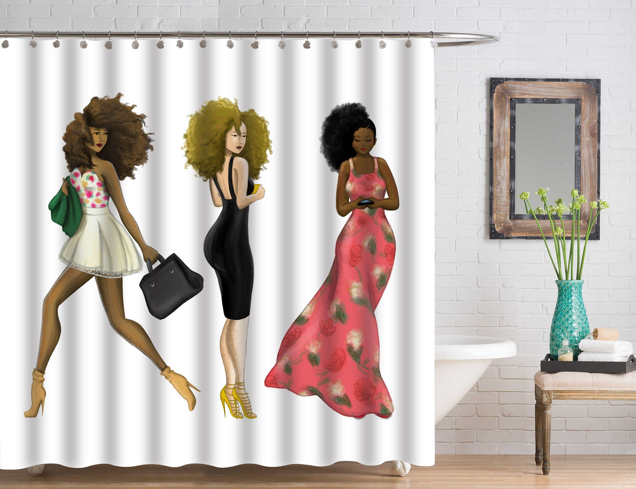 Beautiful One Of A Kind Shower Curtains. All Hand Drawn Exclusive Designs. Only At