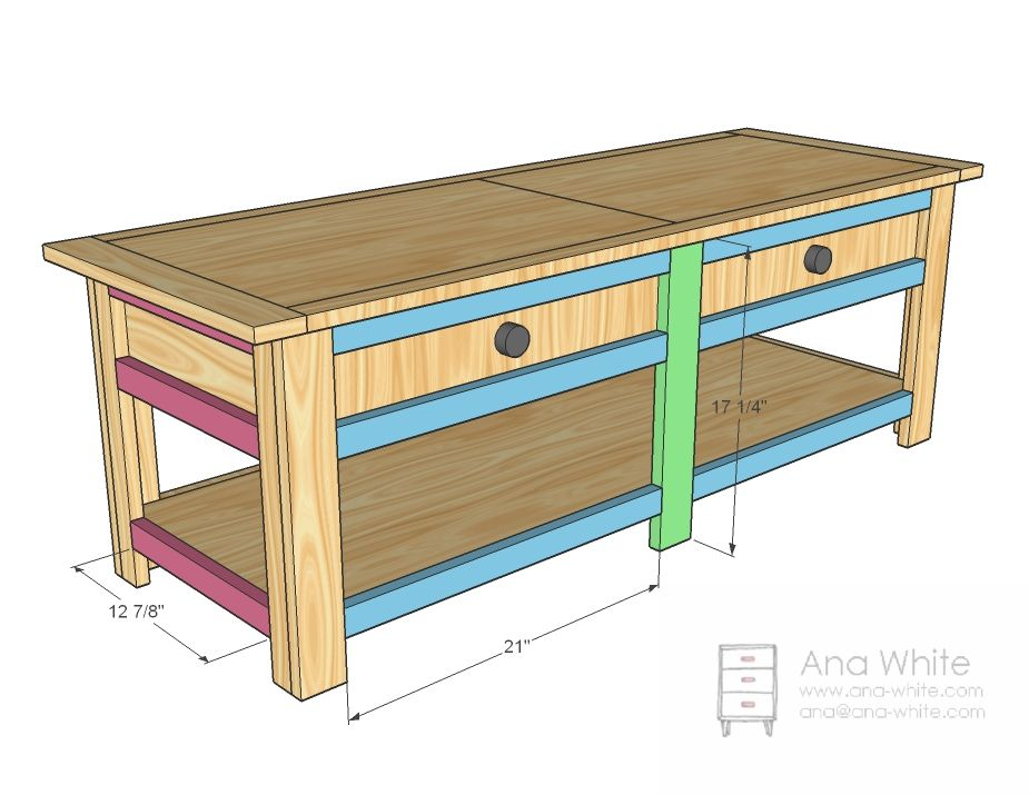 Ana White Build a Moms Lego Table Free and Easy DIY Project