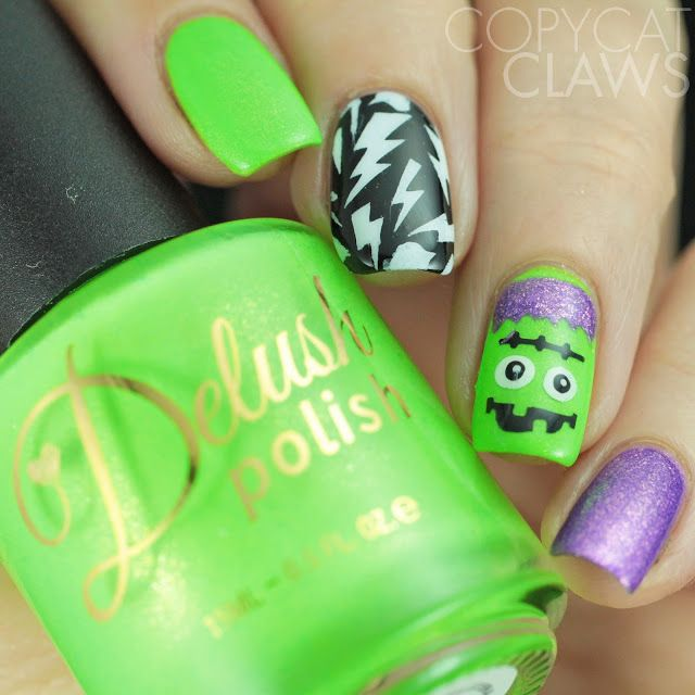 Whats Up Nails Frankenstein Nail Stencils | My Nail Art | Pinterest