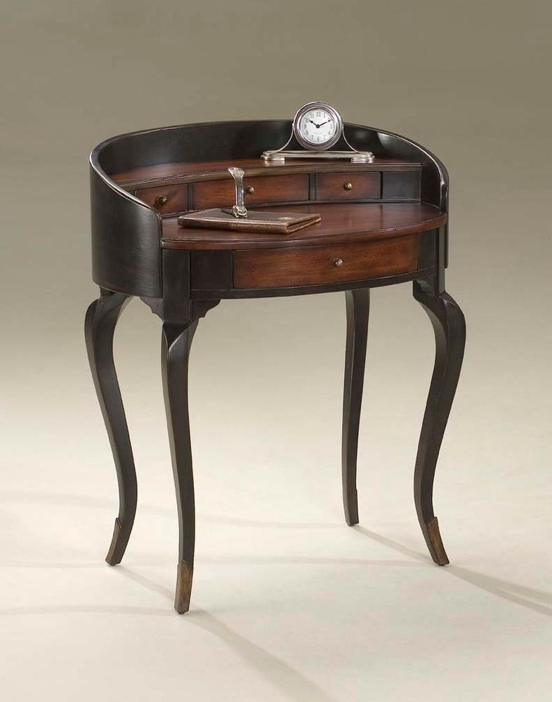 Rich Dark Brown Writing Desk Solid Wood Construction Free Shipping Brand New #Traditional