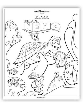 Finding Nemo 3D Coloring Sheet