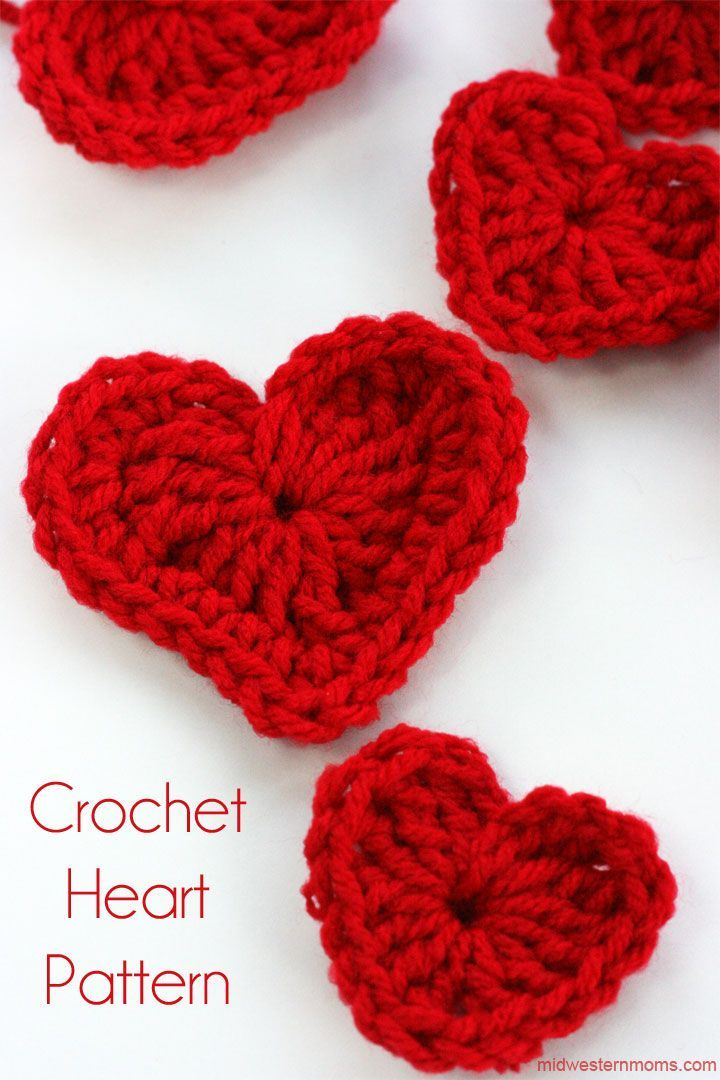 How To Crochet A Heart Plus DIY Heart Garland | Free crochet heart ...