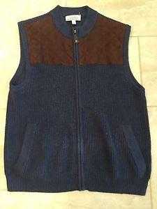 Cabelas Mens Cotton Zip Up Knit Shooting Hunting Sweater Vest L ...