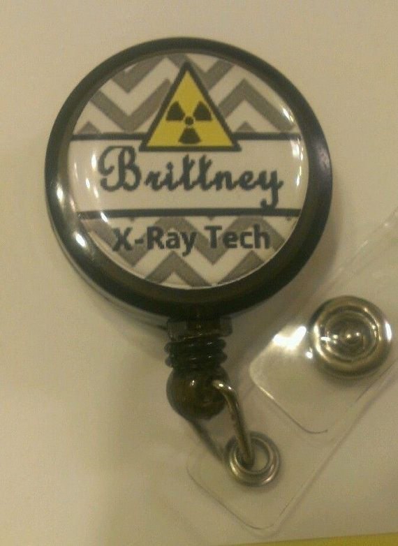 personalized xray tech retractable name badge holder reel x ray