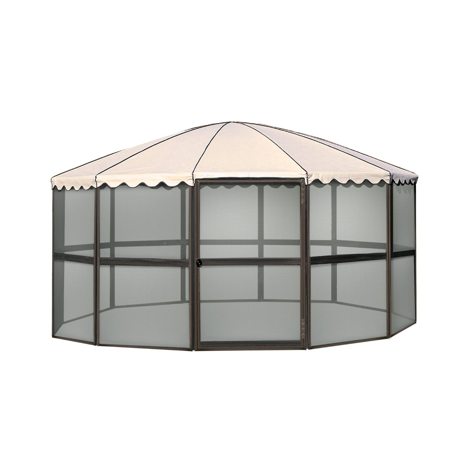 Casita 23165 12 panel round screen house for Backyard screen house