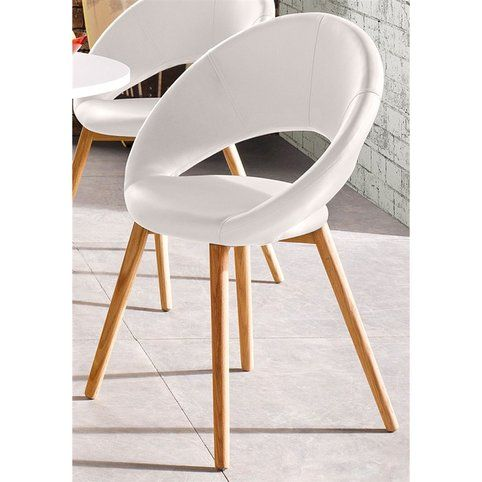 Lot de 6 chaises design scandinave en rev tement synth tique for Chaise scandinave cuir