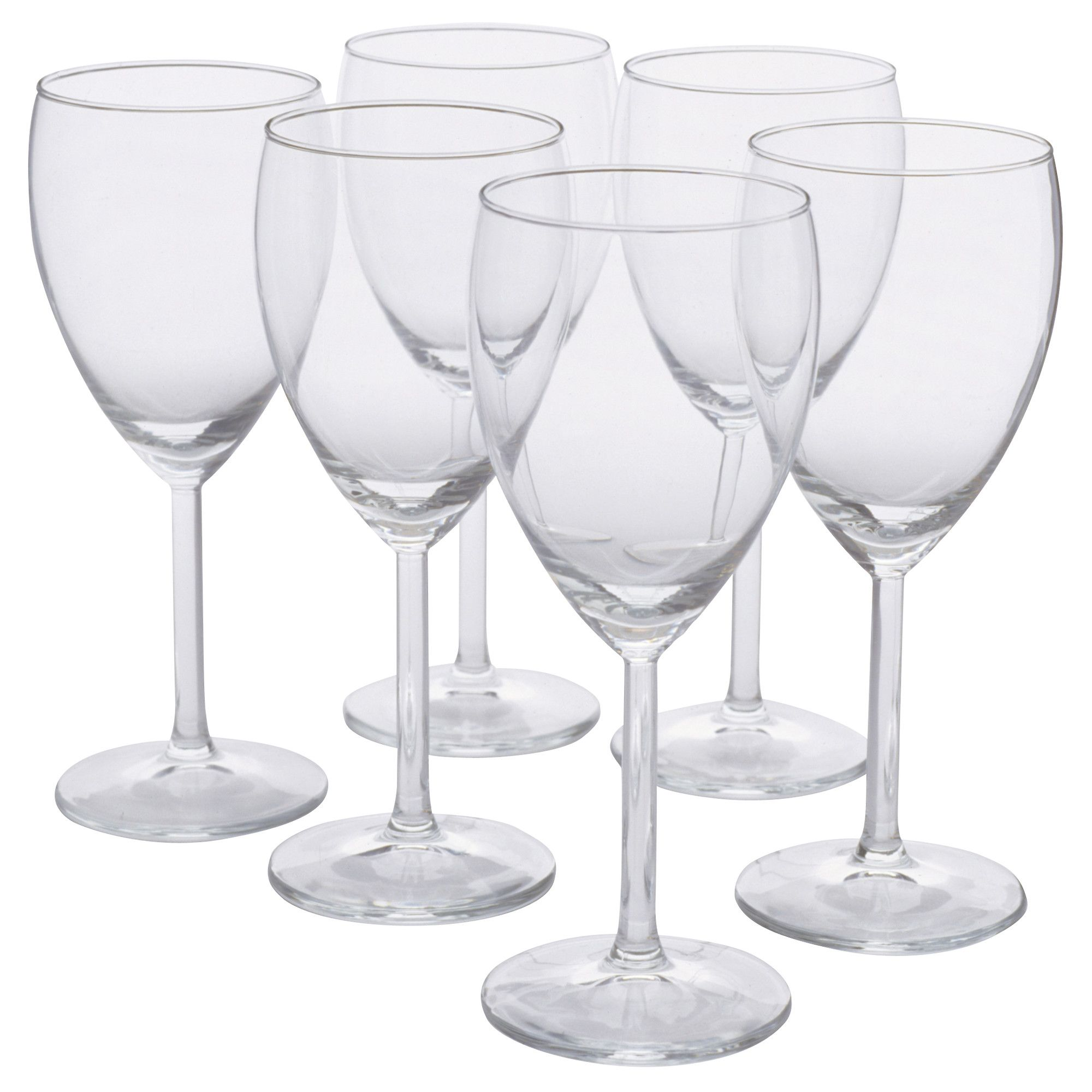 ikea svalka white wine glass clear glass 6 pack size. Black Bedroom Furniture Sets. Home Design Ideas