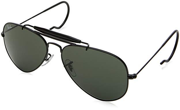 Amazon Com Ray Ban Rb3030 Outdoorsman I Aviator Sunglasses Black Green 58 Mm Clothing Aviator Sunglasses Sunglasses Ray Bans