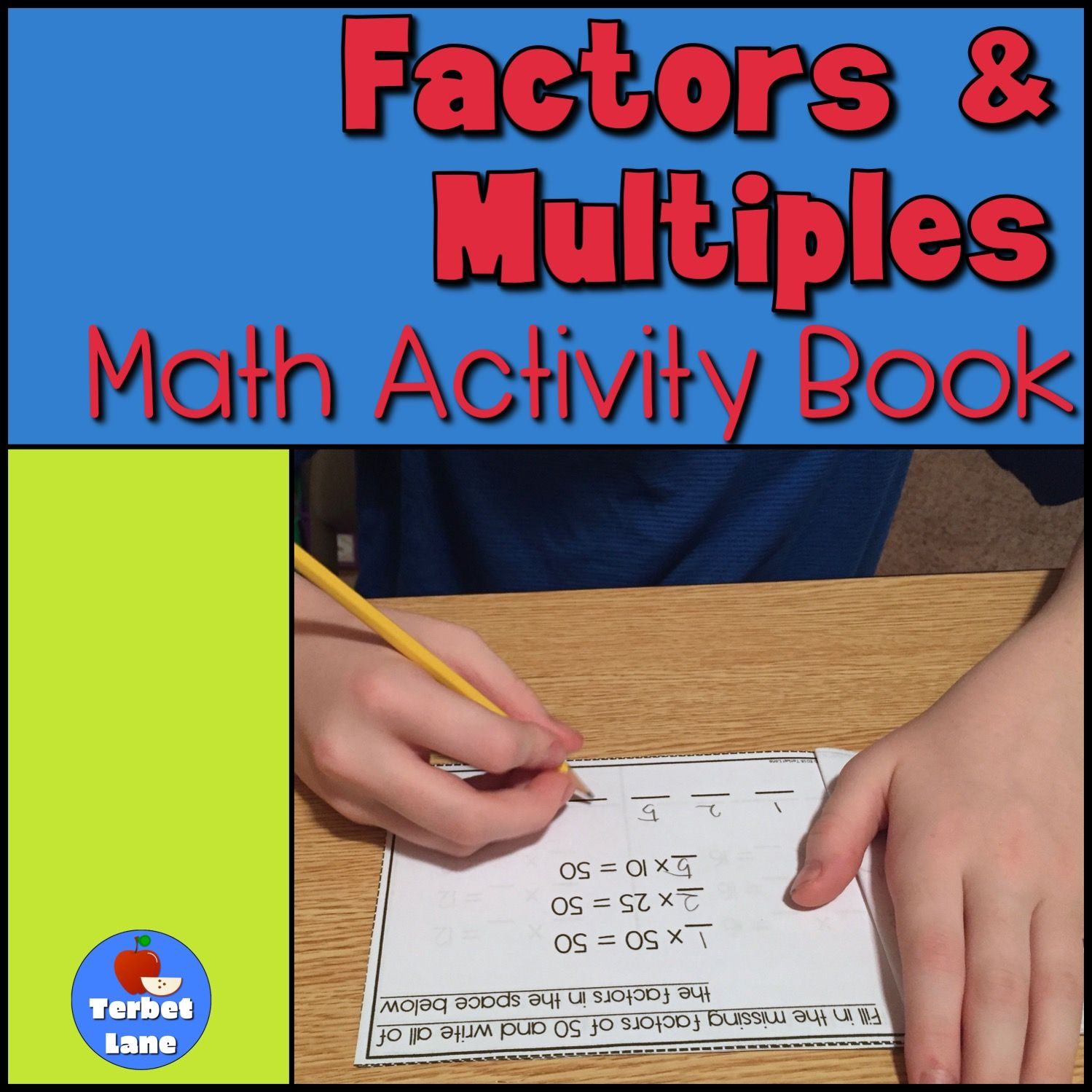 Factors and Multiples Math Activity Book from Terbet Lane