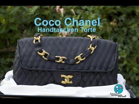coco chanel handtaschen torte designer handtasche how to fondant 3d torte youtube anni. Black Bedroom Furniture Sets. Home Design Ideas