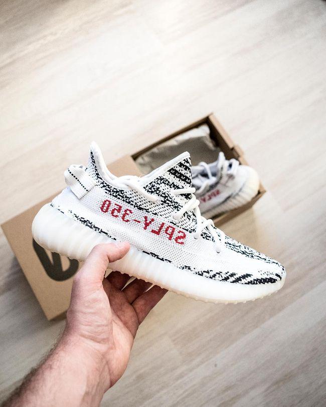 adidas Yeezy Boost 350 V2 Zebra Shoes Size 11, WhiteBlack