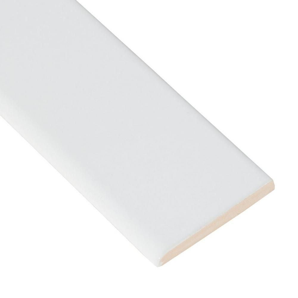 Bright white ice ceramic bullnose bright clean design and high gloss bright white ice ceramic bullnose dailygadgetfo Choice Image