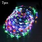 Photo of 7 pezzi ghirlanda di fiori a led accessori per capelli a LED fasce luminose fiori 10 LED boemia # …