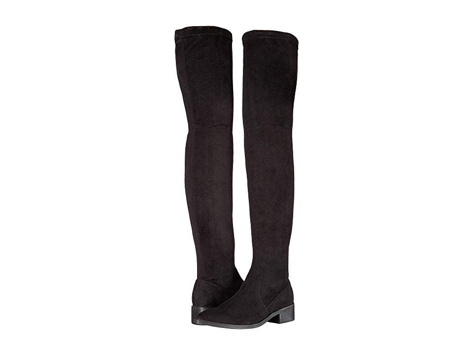634b7f7d8b1 Steve Madden Jestik Over the Knee Boot (Black) Women s Pull-on Boots. Hit  the town in this stylish Steve Madden Jestik Over the Knee Boot. Textile  upper.