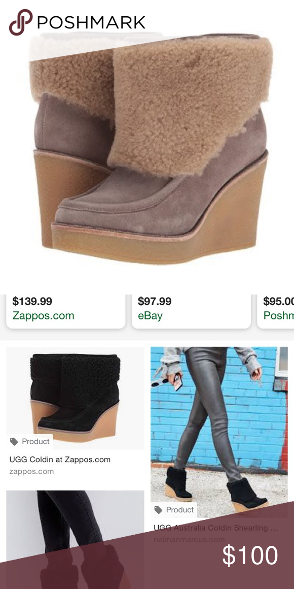 bfa72a09589 ISO DON'T BUY! UGG Coldin Wedge Winter Bootie 8.5 Hi! Please help me ...
