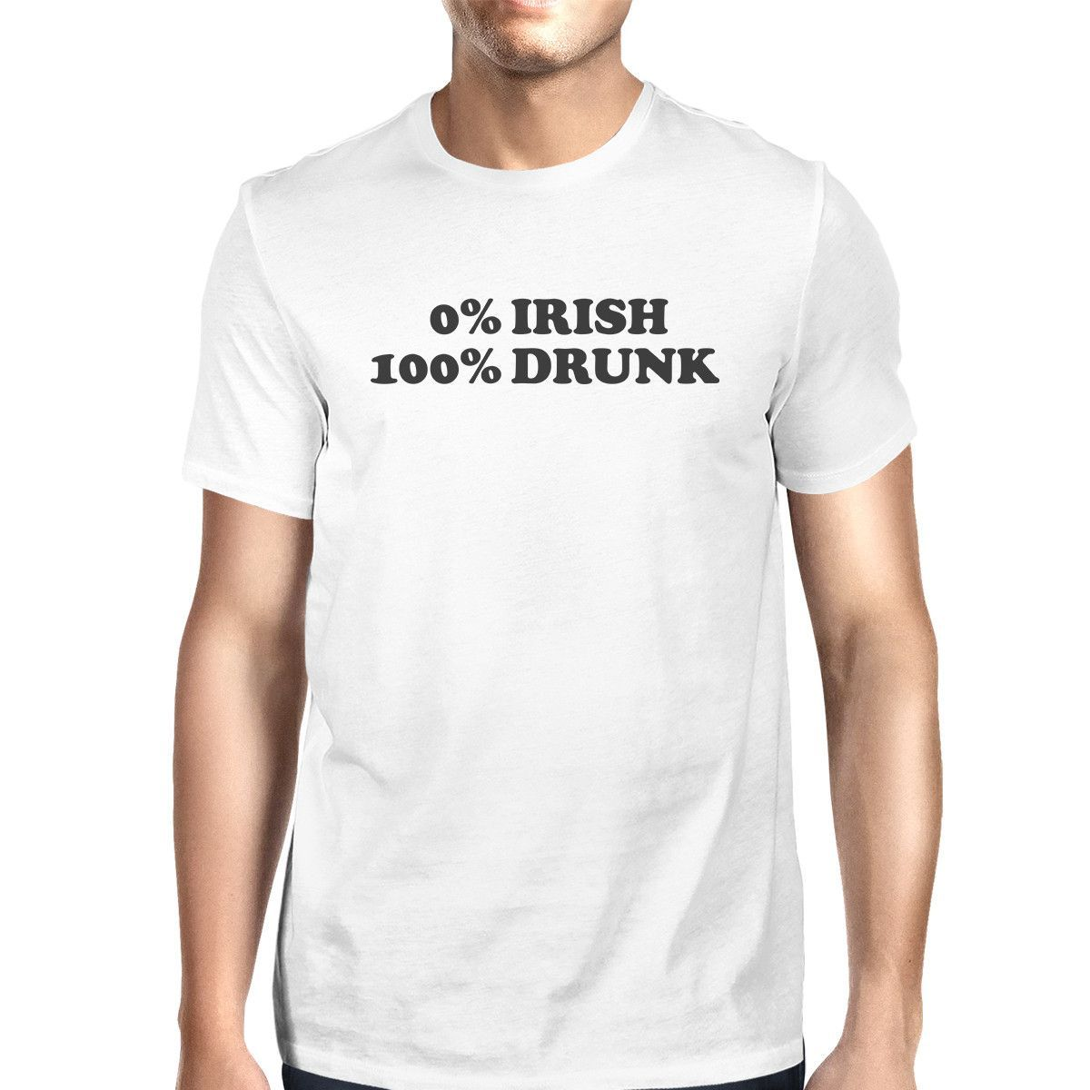 365 Printing 0/% Irish 100/% Drunk Dark Grey Funny Graphic HoodieGifts for Him
