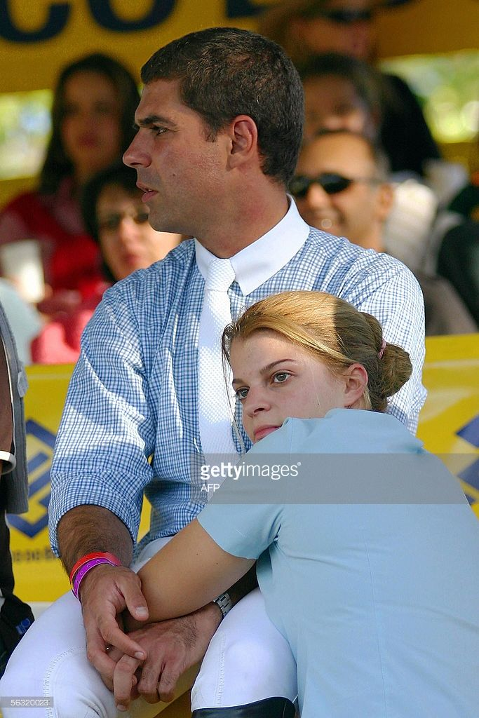French-Greek Athina Onassis (R) and her Brazilian boyfriend Alvaro Alfonso de Miranda Neto, known as Doda, attend an international jump championship 01 May, 2005 in Porto Alegre, Southern Brazil. Athina Roussell Onassis, granddaughter and only heir of Greek shipping magnate Aristotle Onassis, will marry on 03 December 2005 Brazil's equestrian champion Alvaro Affonso 'Doda' de Miranda Neto. The marriage is to take place before 400 to 750 guests in a huge mansion in Sao Paulo's swank Morumbi…