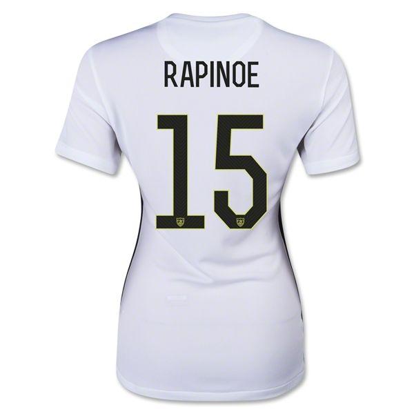 newest 8c443 bba50 USWNT USA 2015/16 Jersey #15 RAPINOE Women's Home Soccer ...
