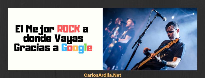 Encuentra lo mejor del Rock usando el operador :