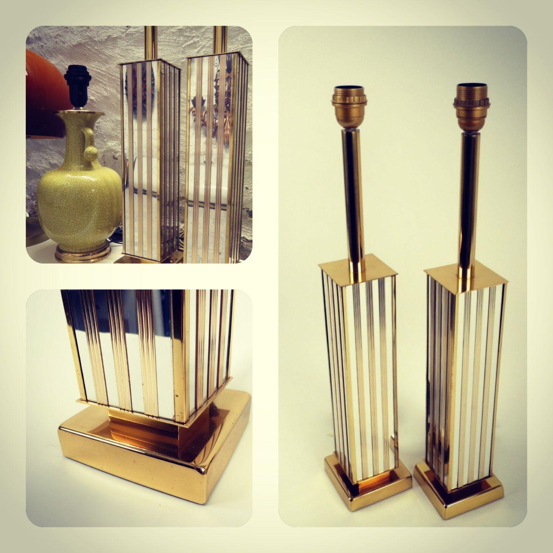 Brass tablelamps. Antwerp 60,s