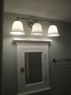 Above Medicine Cabinet Lighting Lighting Over Surface Mounted