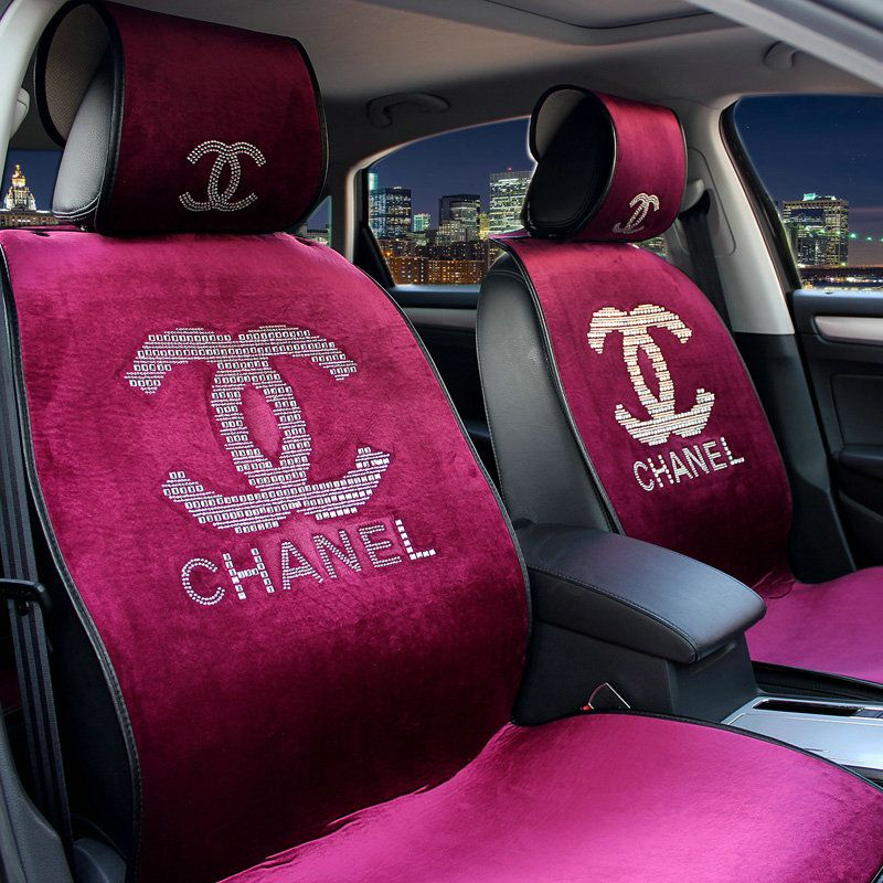 Buy Wholesale Luxury Chanel Universal Automobile Velvet Sheepskin Car Seat Cover Cushion 10pcs Sets