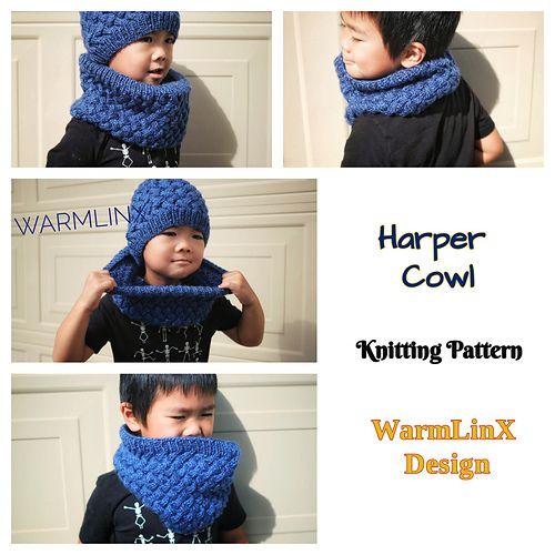 Photo of Harper Cowl pattern by Weiyan Huang