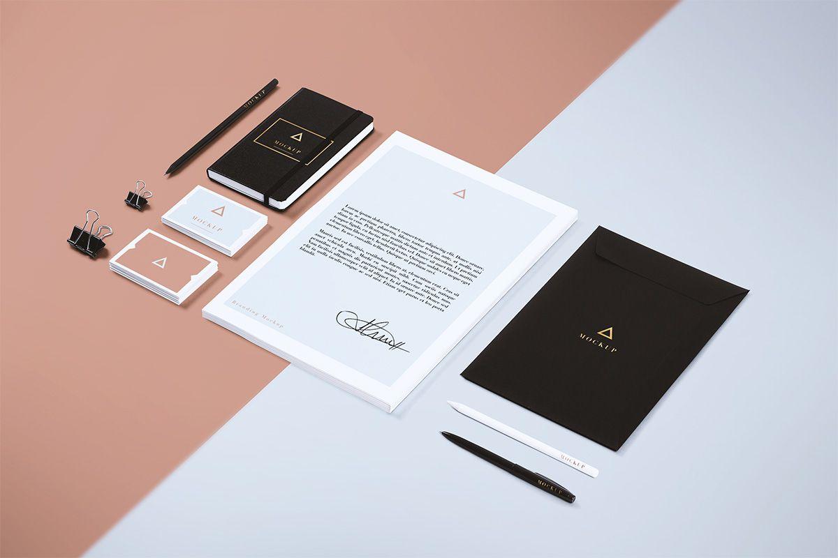 mockup gratis papeleria corporativa branding 05 | Dibujos, pinturas ...